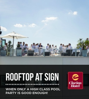 The rooftop floor at Sign