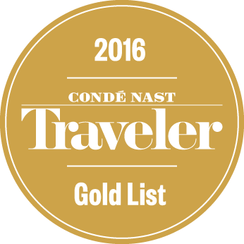 Utmärkelse Conde Nast Gold List 2016